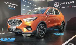 MG Astor car orange